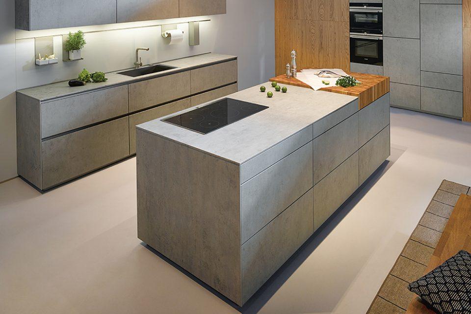 Industriële keuken Boncquet Nx 950, kookeiland met ultradun werkblad