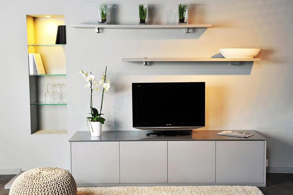 meuble sur mesure meuble tv gris Boncquet