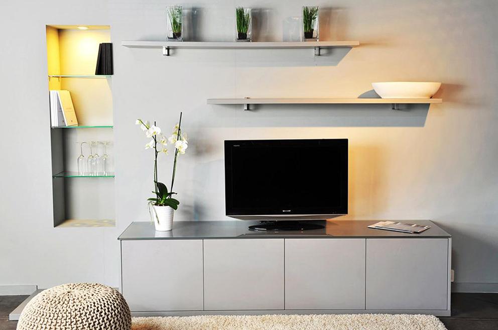 Maatkast grijs tv-meubel Boncquet