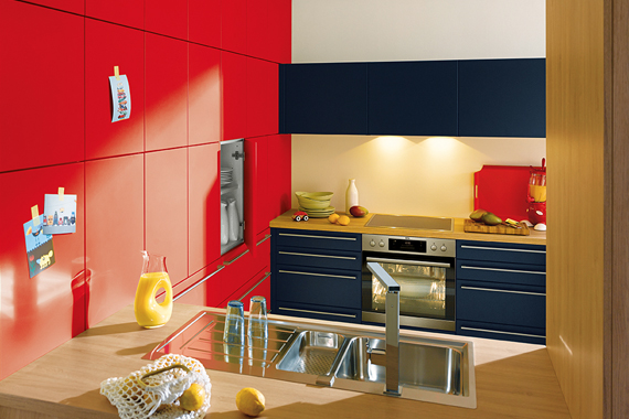 cuisines Boncquet couleurs flashy par exemple rouge