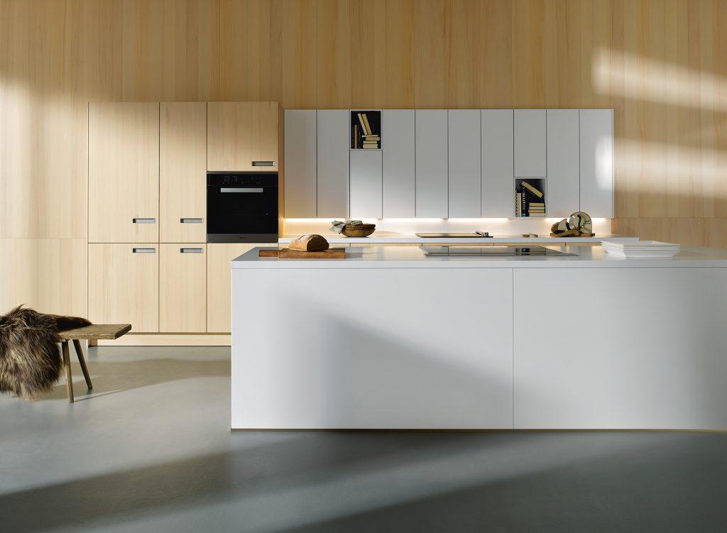 Nissen in muurkast, Boncquet moderne keuken, cuisine moderne Boncquet, niches dans le placard mural