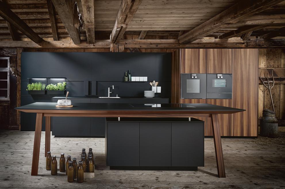 cuisine industrielle Nx 870 îlot central minimaliste
